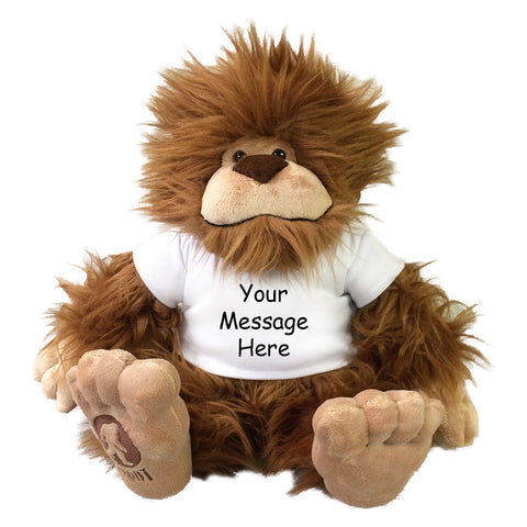 Personalized Stuffed Bigfoot by Aurora Plush