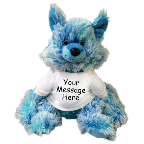 "Personalized Stuffed Blue Fox - 12"" Aurora Plush"