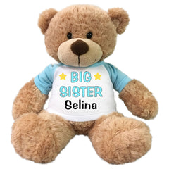 "Big Sister Teddy Bear - Personalized 13"" Bonny Bear Light blue"