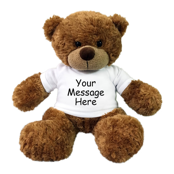 "Personalized Teddy Bear - 13"" Brown Bonny Bear"