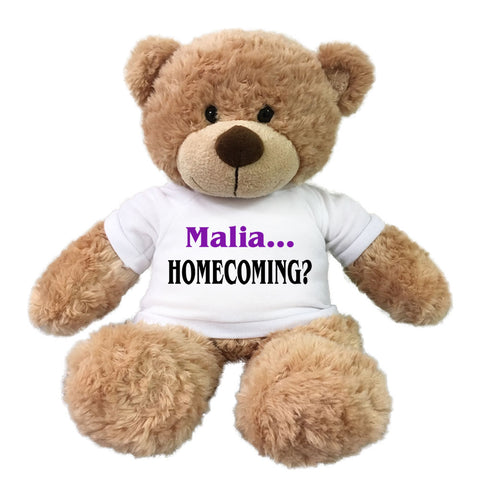 "Homecoming Teddy Bear -  Personalized 13"" Bonny Bear"