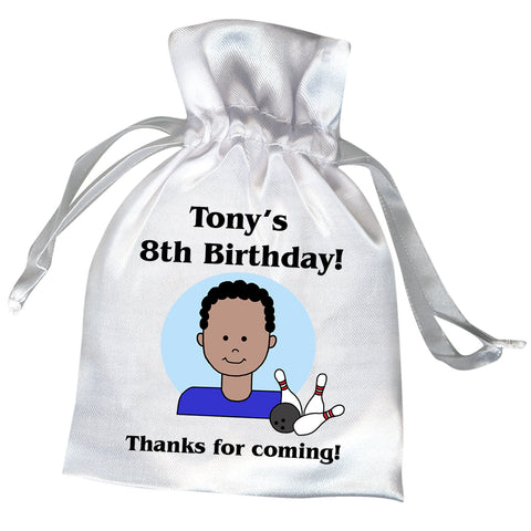 Bowling Kid Personalized Birthday Party Favor Bag - Boy