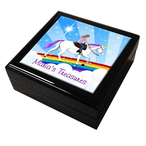 Unicorn Dreams Personalized Keepsake Box
