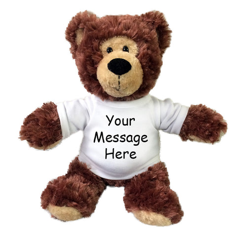 "Personalized Teddy Bear - 12"" Tubbie Wubbie Brown Bear"