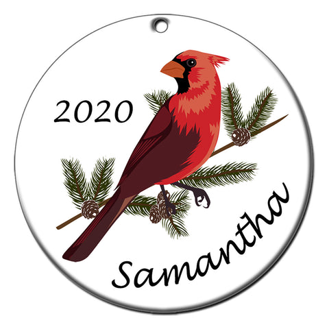 Cardinal Personalized Christmas Ornament