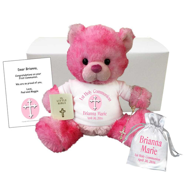 Personalized First Communion Teddy Bear Gift Set - Cherrydrop Bear
