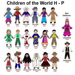 Children of the World Bag Tag