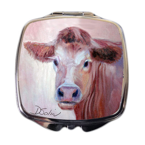 Brown Cow Compact Mirror