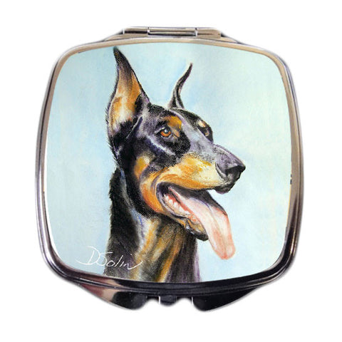 Doberman Dog Compact Mirror
