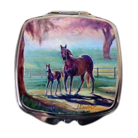 Morning Run Horse Compact Mirror