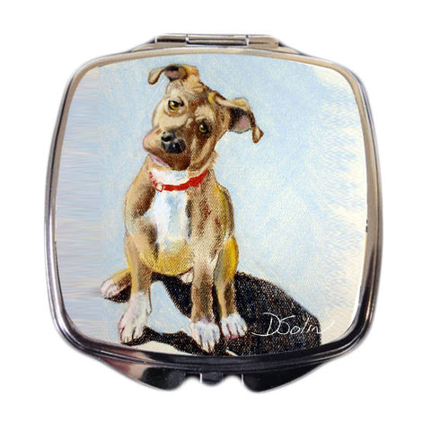 Pit Bull Puppy Dog Compact Mirror