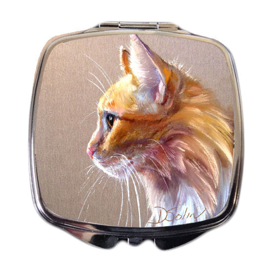 Orange Snowshoe Cat Compact Mirror