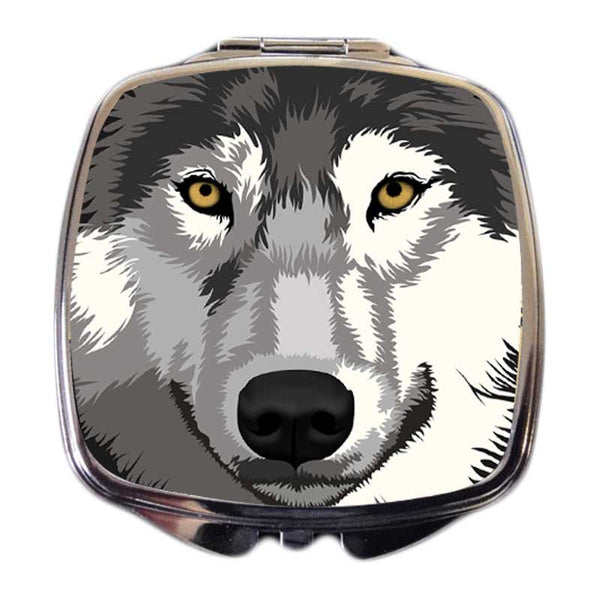 Wolf Compact Mirror - Mahigan, the Grey Wolf