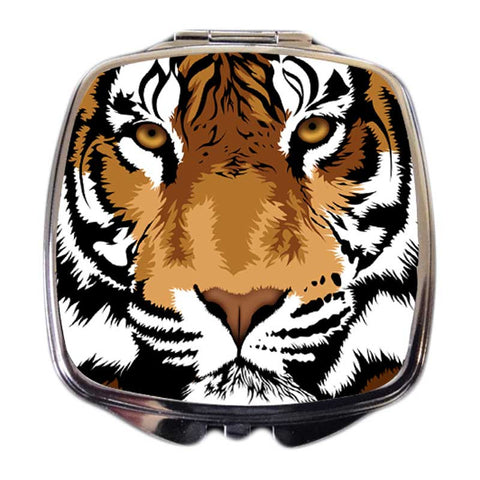Tiger Compact Mirror - Kaplan the Bengal Tiger