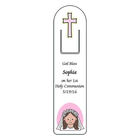 First Communion Personalized Bookmark - Girl
