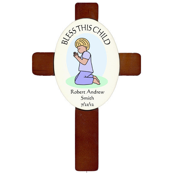 Personalized Praying Girl or Boy Cross
