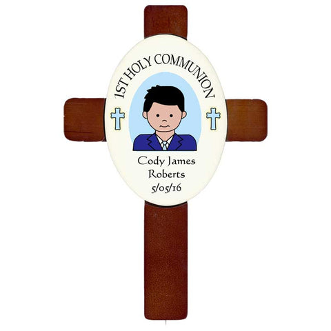 Personalized First Communion or Confirmation Cross - Boy
