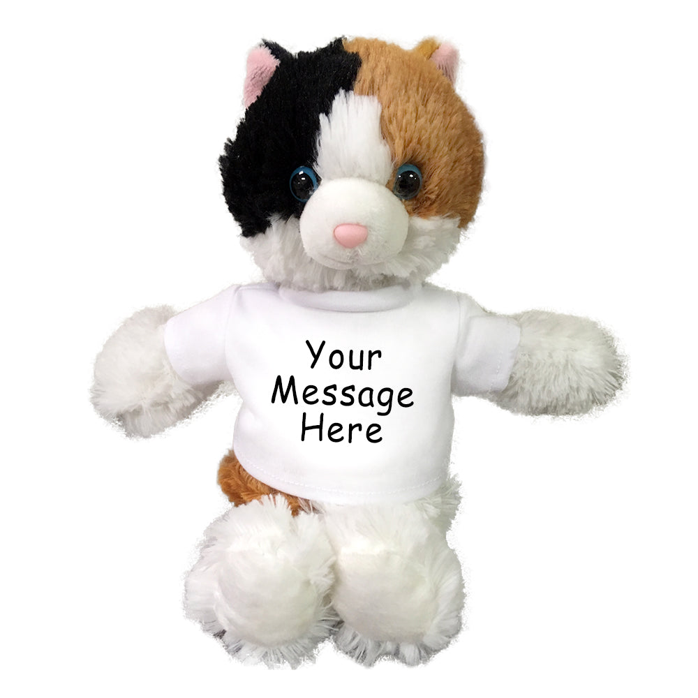 Personalized Stuffed Cat Small Cuddle Pals Calico Cat 10 Inches