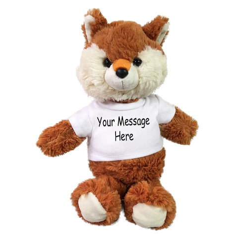 Personalized Stuffed Fox - 10 inch Small Cuddle Pals Fox