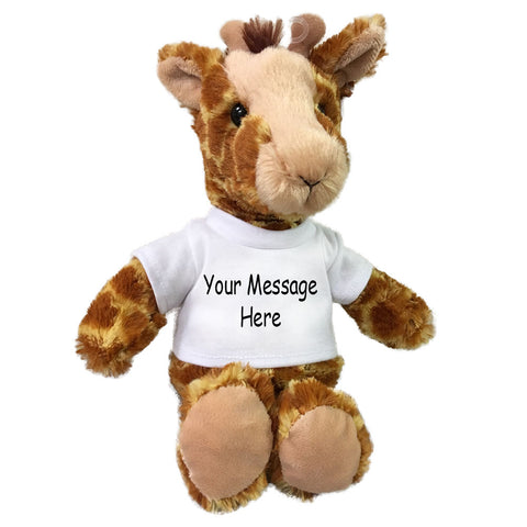 Personalized Stuffed Giraffe - Small 10 inch Cuddle Pals Giraffe