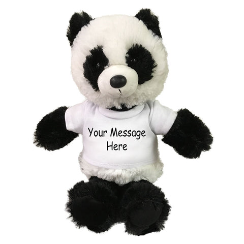 Personalized Stuffed Panda - Small 10 inch Cuddle Pals Panda