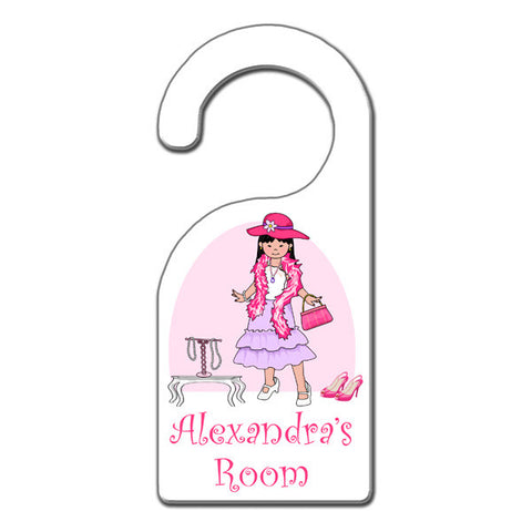Dress Up Girl Door Hanger