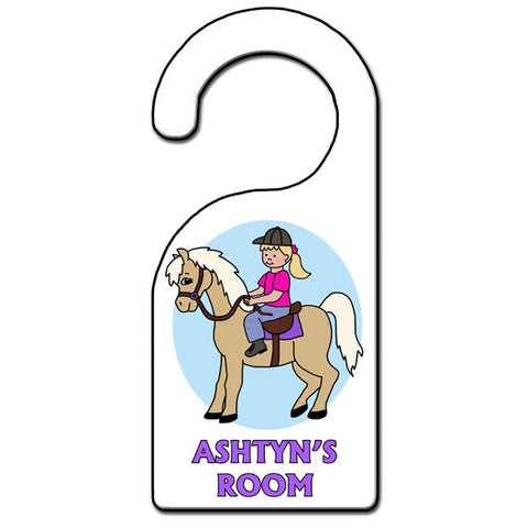 Horse Girl Door Hanger