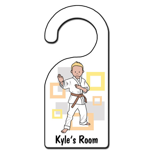 Martial Arts or Karate Kid Door Hanger - Boy