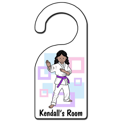 Martial Arts or Karate Kid Door Hanger - Girl