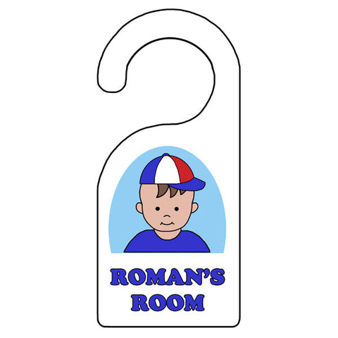 Cartoon Boy Personalized Door Hanger