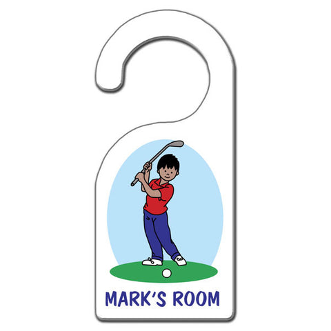 Mini Golf Door Hanger - Boy