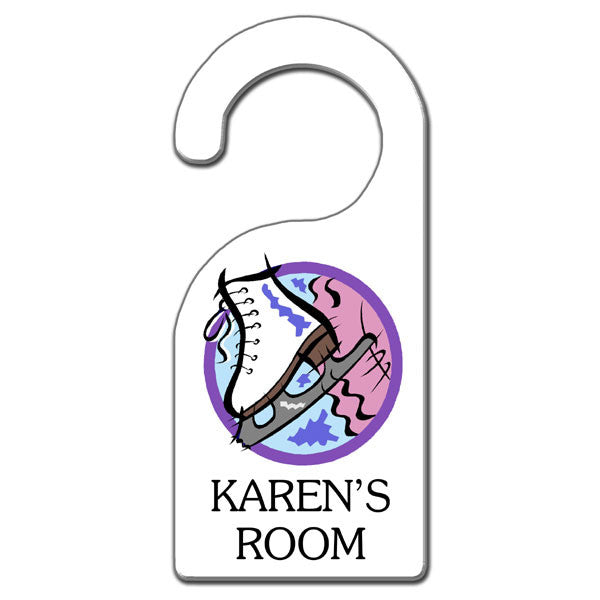Ice Skate Door Hanger