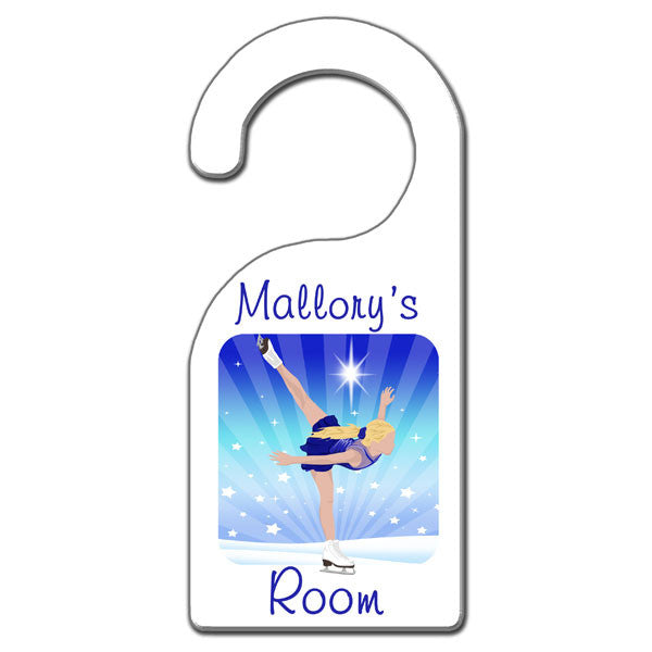Ice Skating Dreams Door Hanger