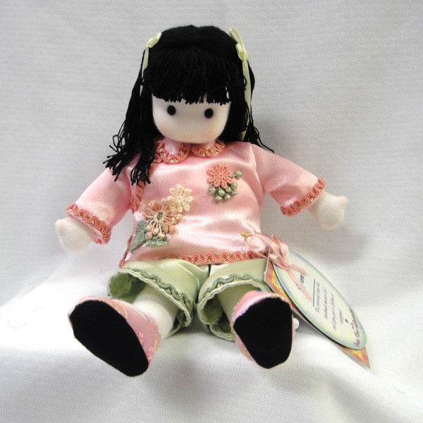 Green Tree Chinese Musical Doll - Pink & Green