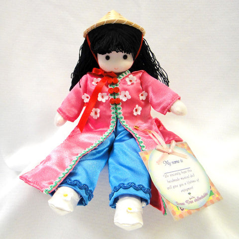 Green Tree Vietnamese Musical Doll - Pink and Blue
