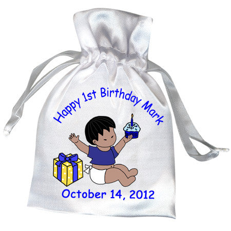 Babys 1st Birthday Favor Bag - Boy