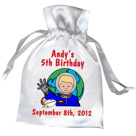 Kids Personalized Birthday Party Favor Bags Astronaut ...