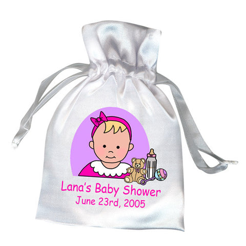 Baby Shower Favor Bag - Cartoon Baby Design