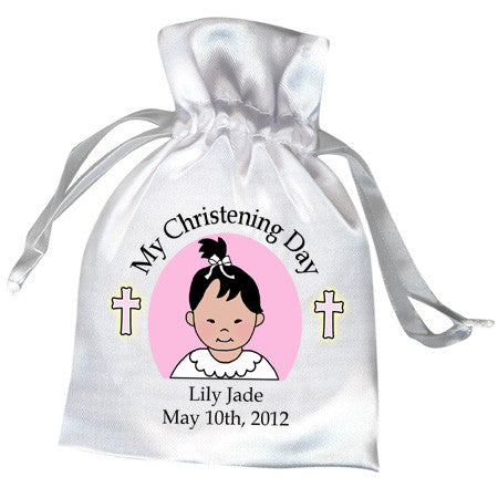 Baptism or Christening Favor Bag - Baby Girl