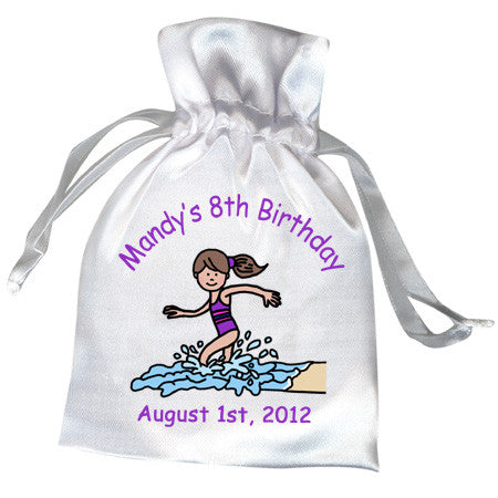 Beach Party Favor Bag - Girl