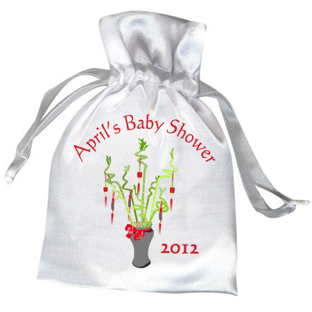 Lucky Bamboo Baby Shower Favor Bag