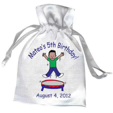 Bounce House Jumping Boy Party Favor Bag