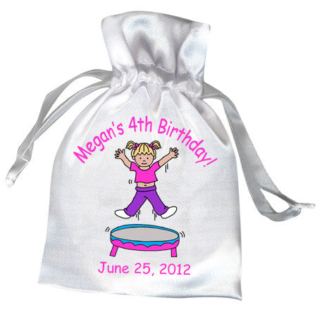 Bounce House Jumping Girl Party Favor Bag