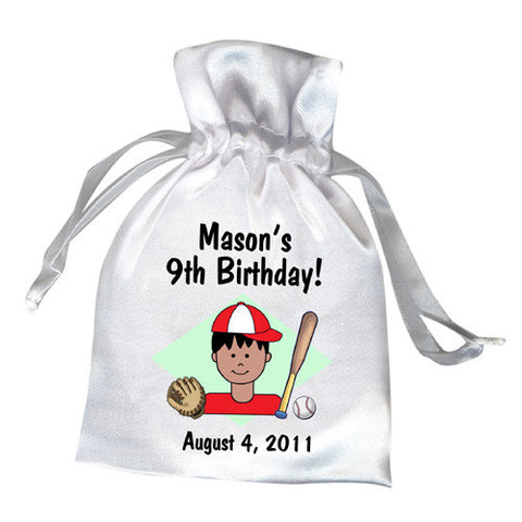 Baseball Kid Party Favor Bag - Boy