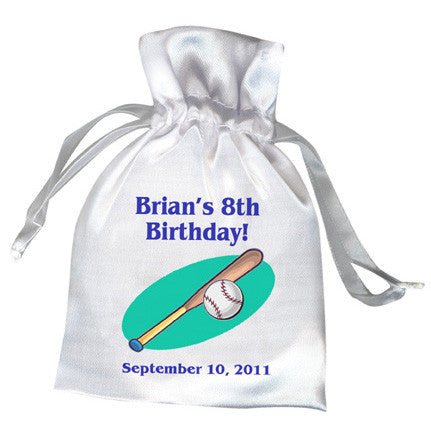 Baseball Party Favor Bag