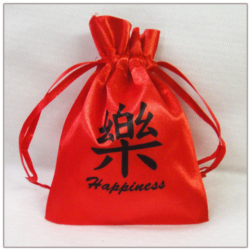 Chinese Calligraphy Mini Favor Bag - Red
