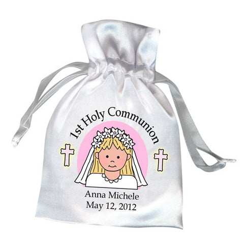 First Communion Favor Bag - Girl