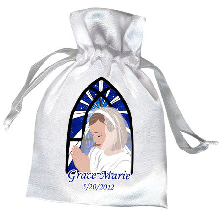 First Communion Favor Bag - Praying Girl