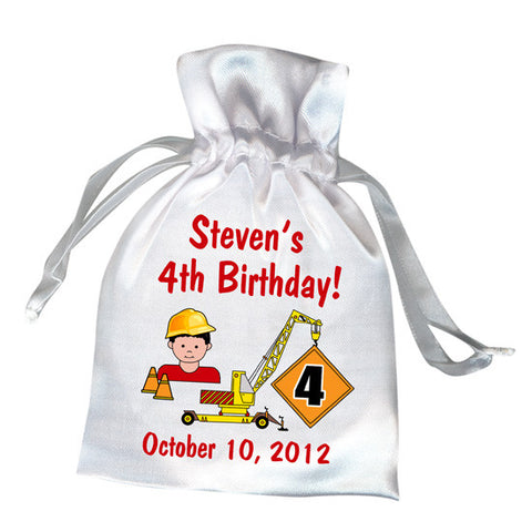 Construction Boy Party Favor Bag