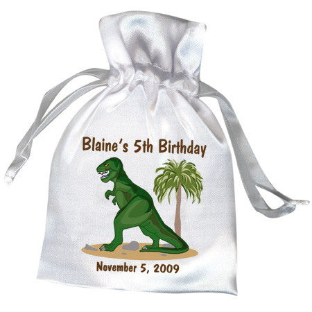 Dinosaur Party Favor Bag - T-Rex